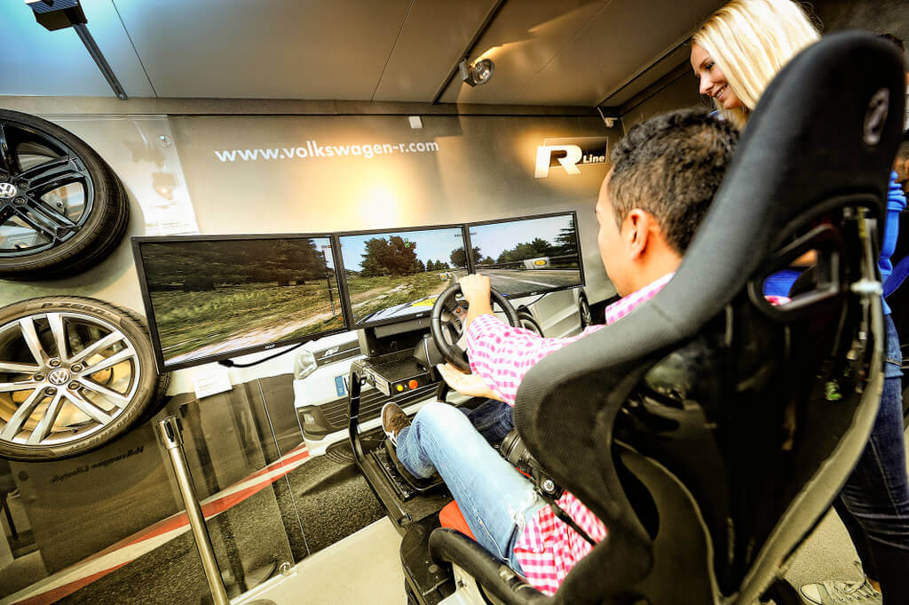Rally Simulator Rennspiel VW
